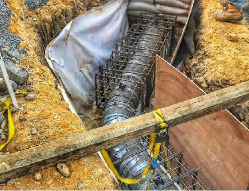 Water Main – DN300 welded MSCL, PE and DICL, November 2017